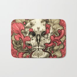 Tattooed Skull Bath Mat
