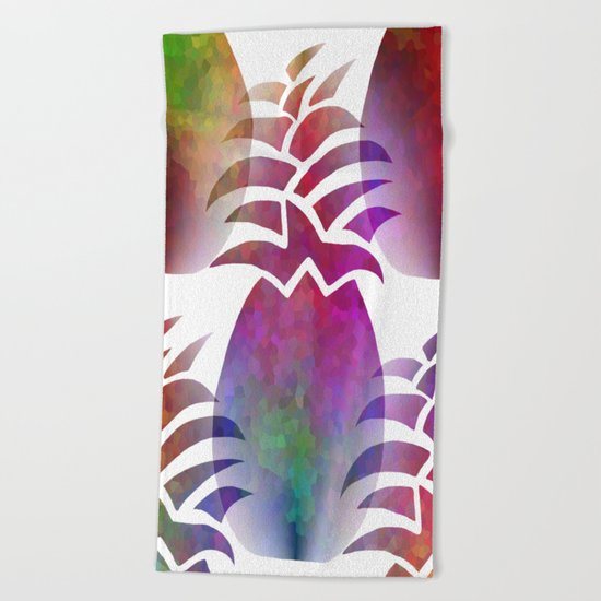 Pleasing Pineapple Beach Towel