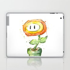 Fireflower Mario Watercolor Laptop & iPad Skin
