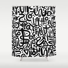 ABSTRACT 0015 Shower Curtain
