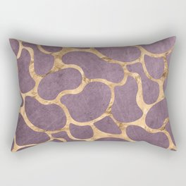 Gold and Purple Rectangular Pillow