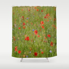Field of Poppies (in mosaic) Shower Curtain