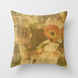 LOK Live Love Montage Throw Pillow