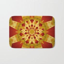 Golden Rays Abstract Mandala Bath Mat