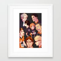 johannathemad Framed Art Prints featuring karasuno by JohannaTheMad