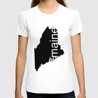 maine T-shirts featuring Maine by Isabel Moreno-Garcia