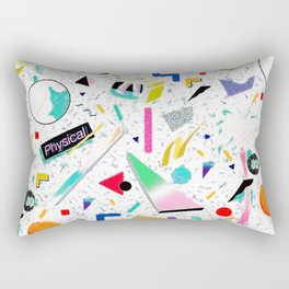80's School Print Rectangular Pillow