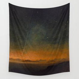 Smyth - The Great Comet of 1843 Sunset Magical Stars Wall Tapestry