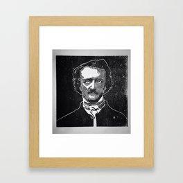 Writer of The Raven: Edgar Allan Poe Framed Art Print