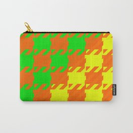 Checkered Orange Yellow Green Carry-All Pouch