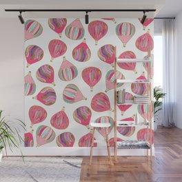 Modern pink colorful watercolor hot air balloons Wall Mural