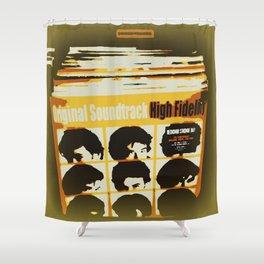 Top High Fidelity List Shower Curtain