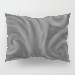 Dark Gray Swirl Pillow Sham