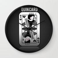 tegan and sara Wall Clocks featuring Tegan and Sara Quincard by Defi Allih