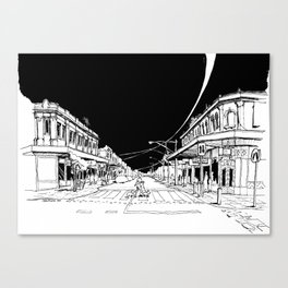 My morning coffee at Gertrude Street Canvas Print