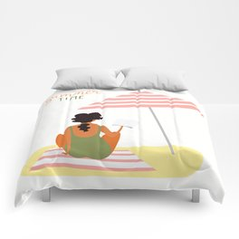 summer time on the beach Comforters