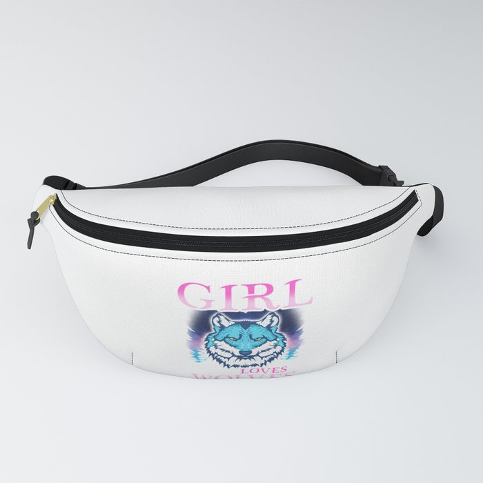 Just A Girl Who Loves Wolves Confident Lone Wolf Fanny Pack