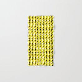 yellow petal lines Hand & Bath Towel