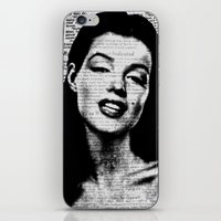 marilyn iPhone & iPod Skins featuring Marilyn  by Saundra Myles