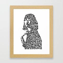 Kanji Calligraphy Art :woman's face #32 Framed Art Print