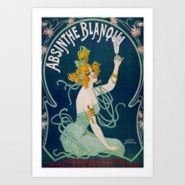 Vintage Absinthe Blanqui Ad Art Print