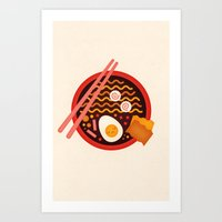 ramen Art Prints featuring Ramen by pandreaa