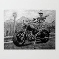 Skeleton Fat Boy Canvas Print