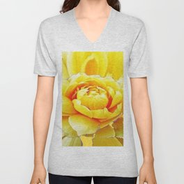 Yellow Rose Western Style Abstract Art Unisex V-Neck