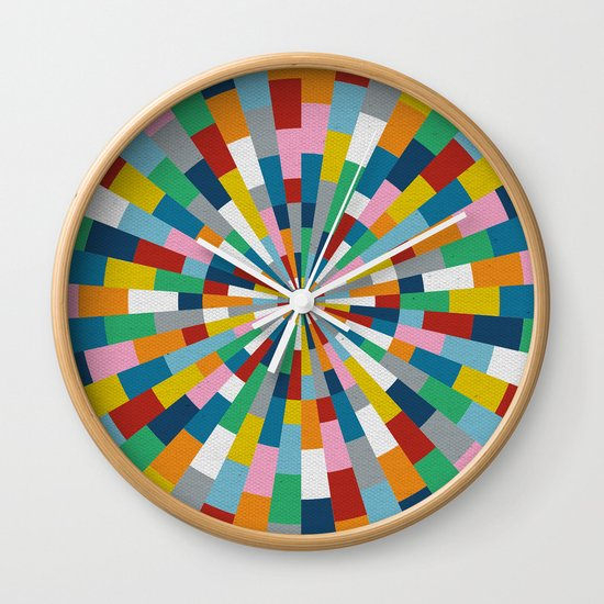 Tick Tock Brick Wall Clock
