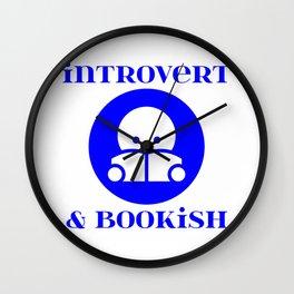 Introvert & Bookish Wall Clock