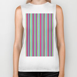 Colour line stripes 555 Biker Tank
