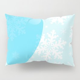Blue Christmas Balloon Pillow Sham
