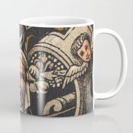 Antique Enamel Email von Limoges Lithograph Coffee Mug
