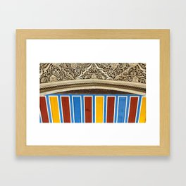 Colorful Ceilings and Carvings Framed Art Print