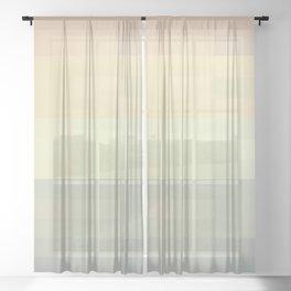 Calm pastel morning Sheer Curtain