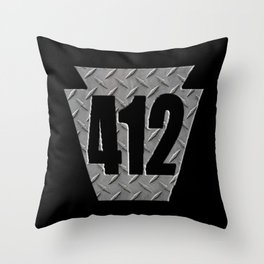 Pittsburgh 412 Keystone Steel Plate Gifts Throw Pillow