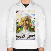 mandela Hoodies featuring Nelson Mandela by Bronsolo