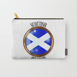 Scottish Proud Flag Button Carry-All Pouch