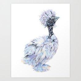 Silkie Chicken - Showgirl Chick Art Print