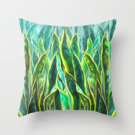 Sansevieria Throw Pillow