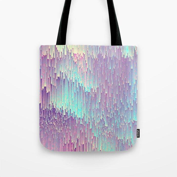 Iridescent Glitches Tote Bag