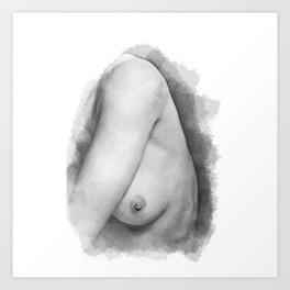 Nude Nipple Art Print