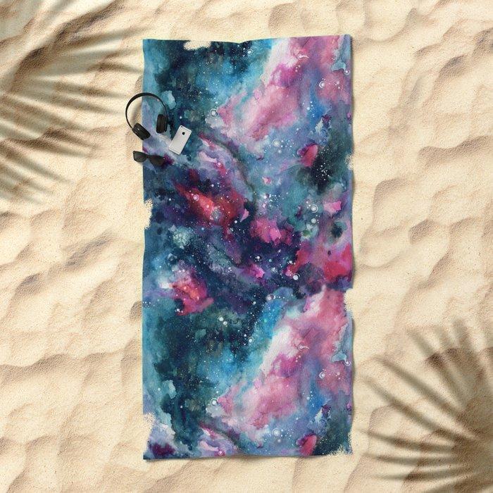 Nebula Sky Beach Towel