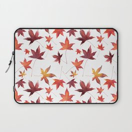 Dead Leaves over White Laptop Sleeve