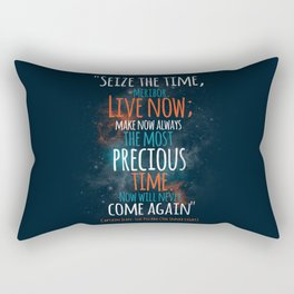 """""""Live now; make now always the most precious time. Now will never come again"""" Captain Picard Rectangular Pillow"""