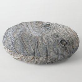 Real Aged Silver Wood Floor Pillow