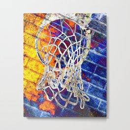Colorful Basketball Art Metal Print