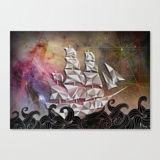 Celestial Ship Canvas Print