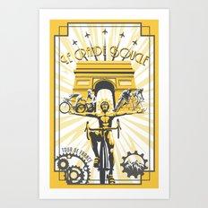 Le Grande Boucle Tour de France Art Print