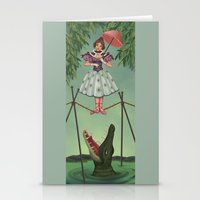 haunted mansion Stationery Cards featuring Disquieting Metamorphosis - Haunted Mansion by Patricia Cervantes
